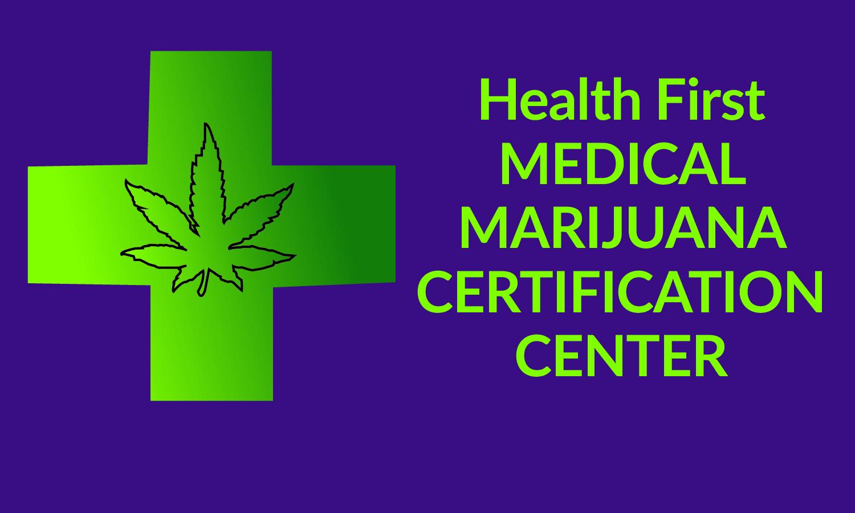 Logo for Health First Medical Marijuna Certification Center