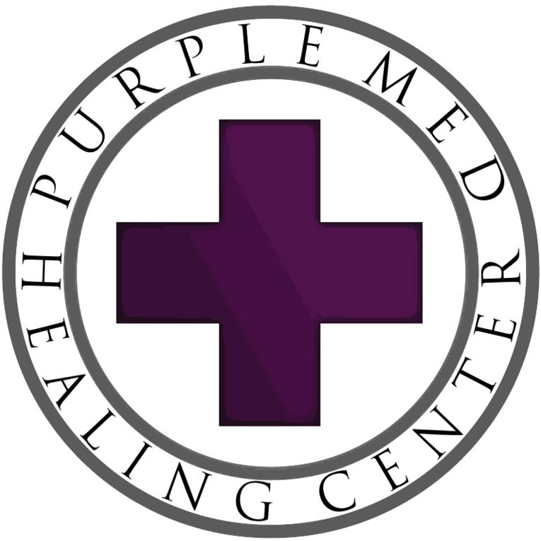 Logo for Purple Med Healing Center