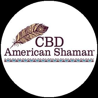 Logo for American Shaman Tulsa CBD Woodland